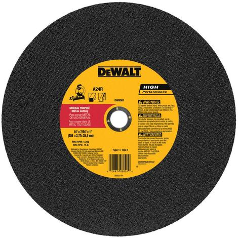 DeWalt Dewalt 14-in Continuous High-Performance Aluminum Oxide Circular Saw Blade