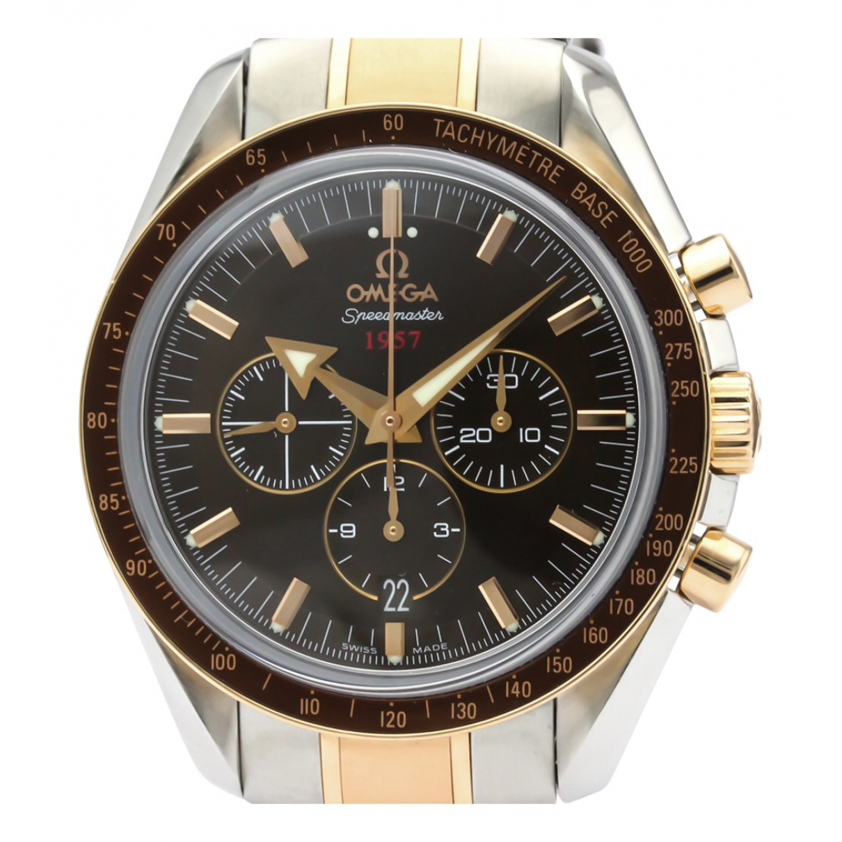 Omega Speedmaster Brown gold and steel watch for Men N