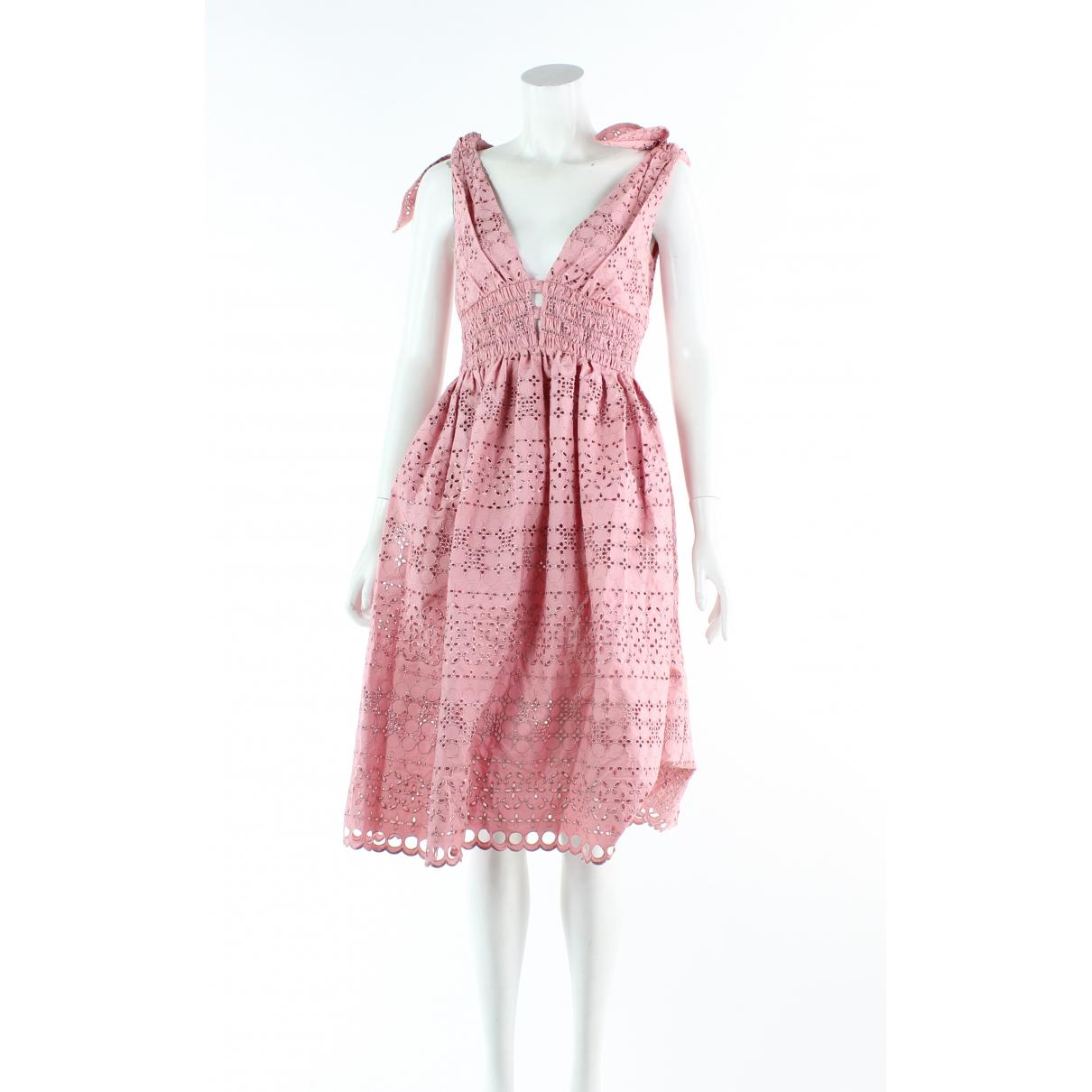 Autre Marque - Robe   pour femme en coton - rose