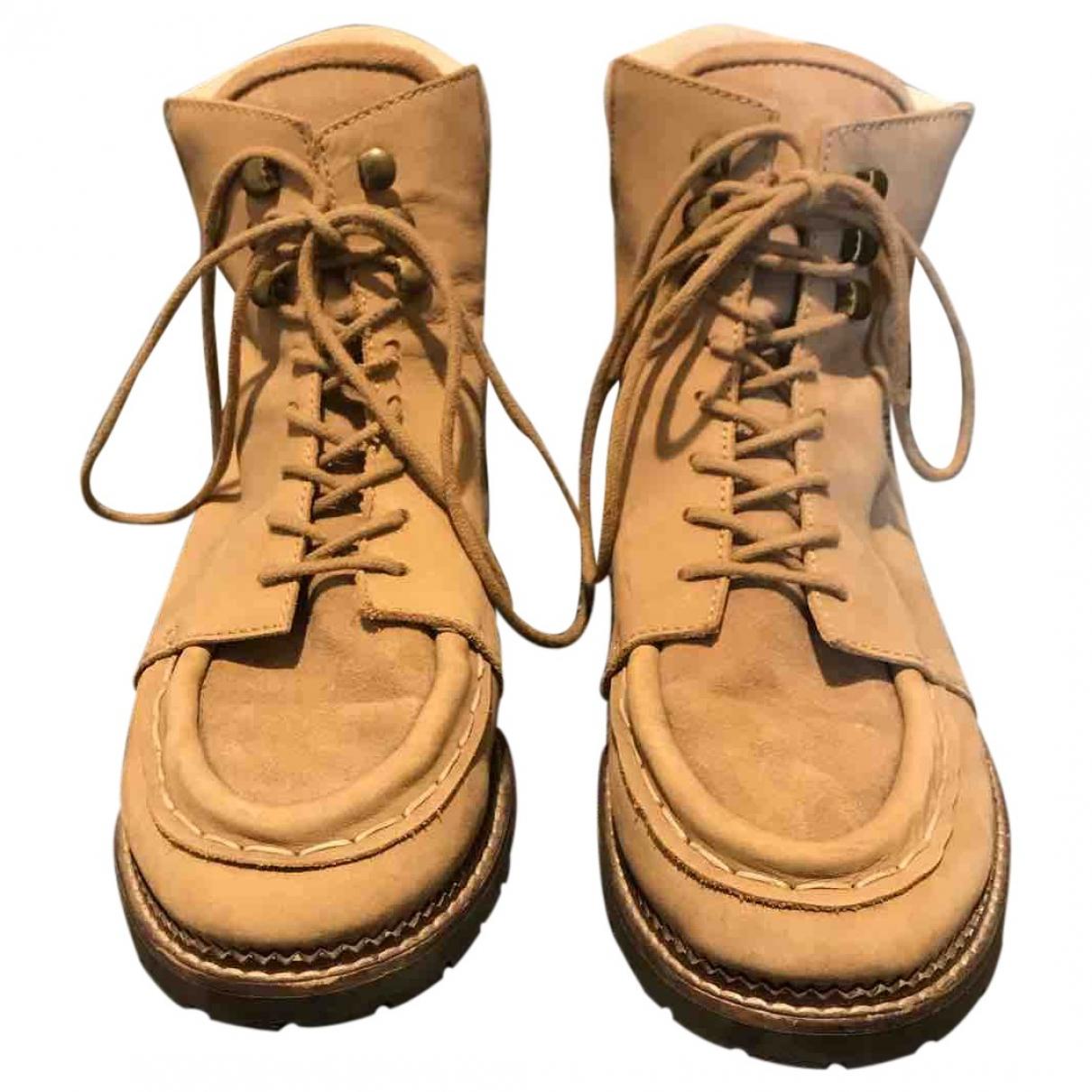 - Boots   pour femme en toile - beige