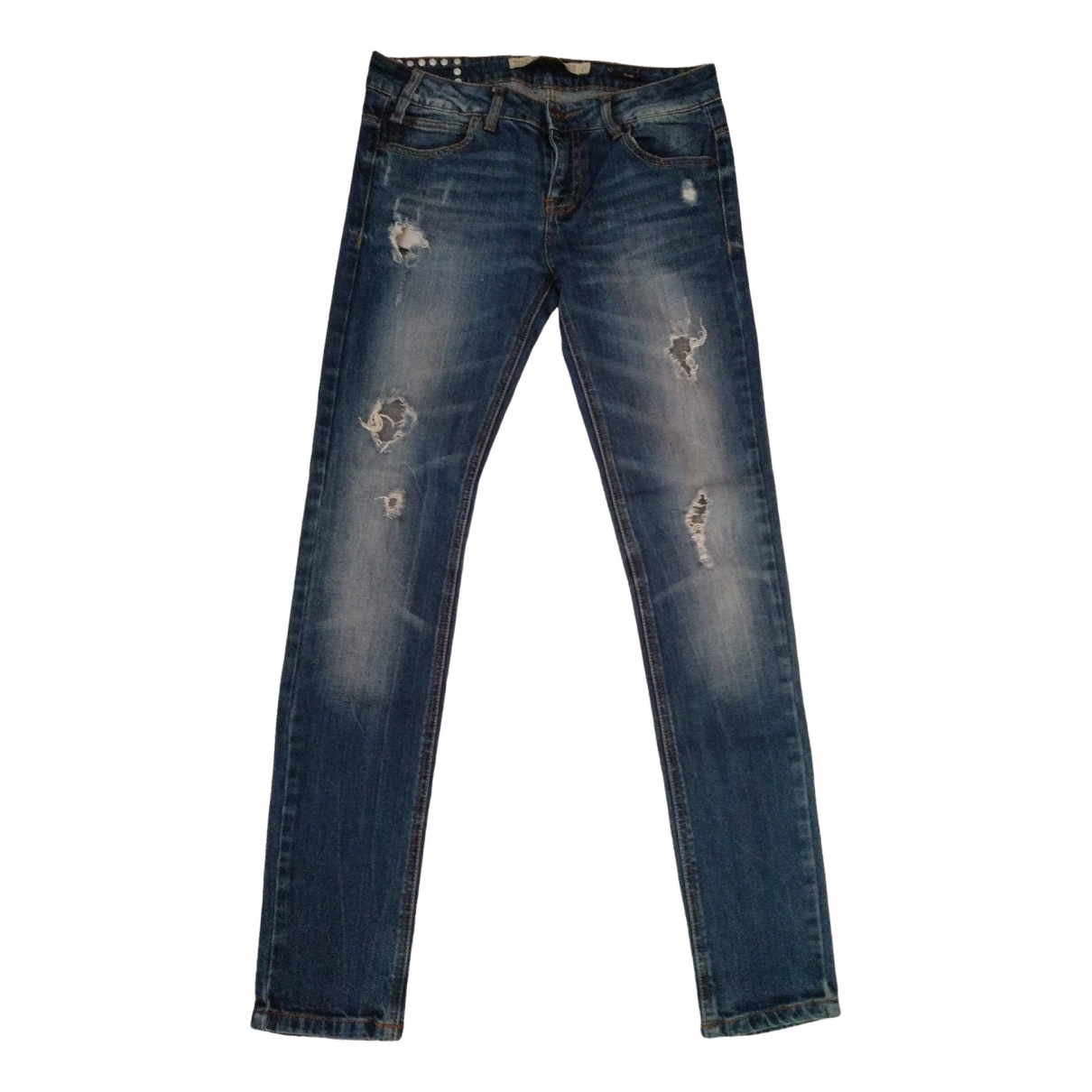 Zara \N Blue Cotton - elasthane Jeans for Women 26 US