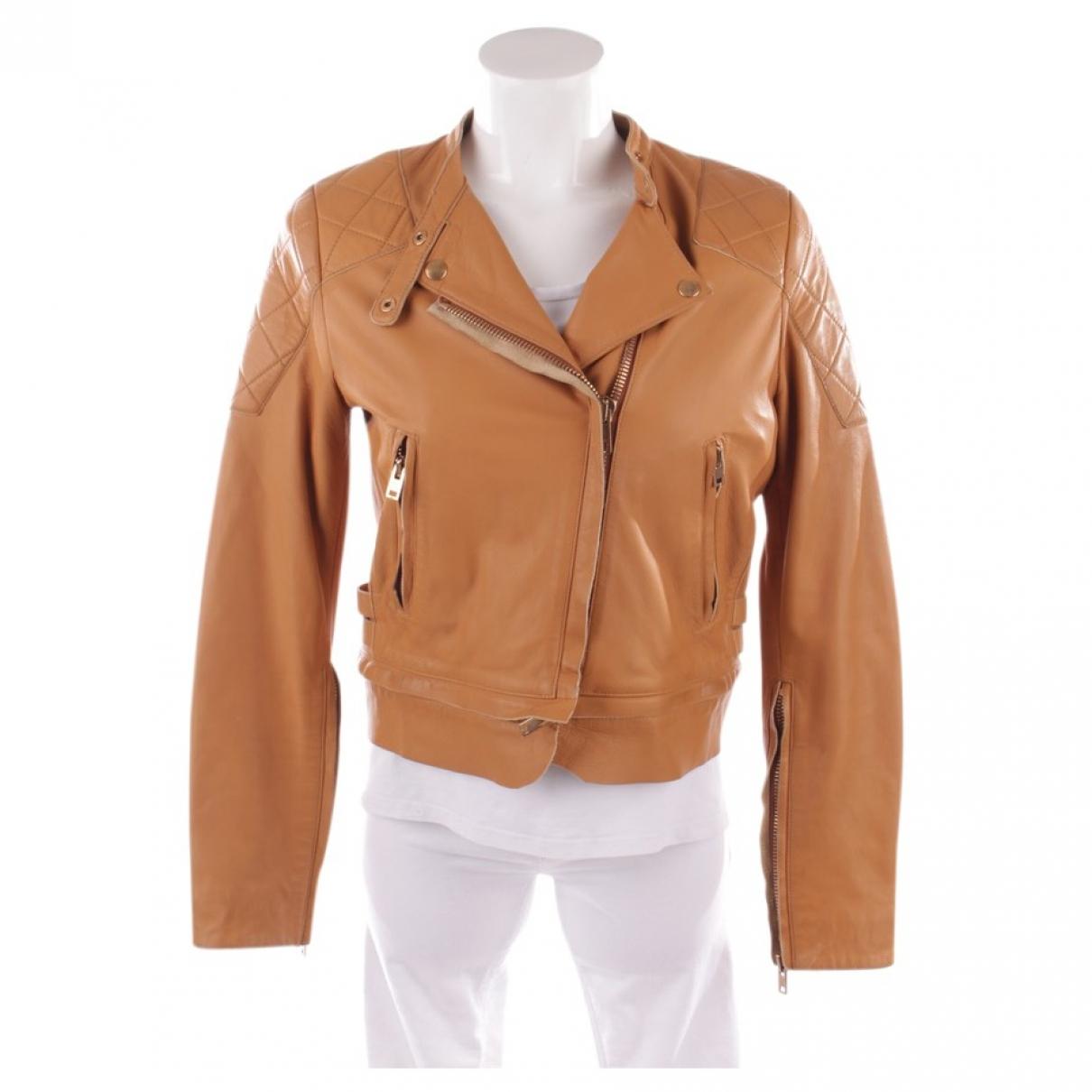 Acne Studios - Veste   pour femme en cuir - beige