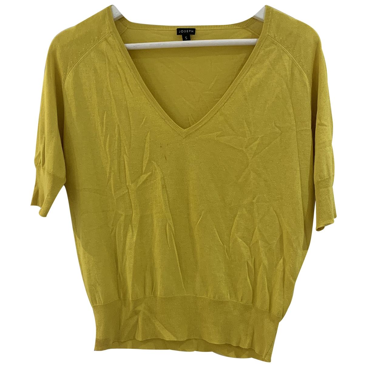 Joseph - Pull   pour femme en soie - jaune