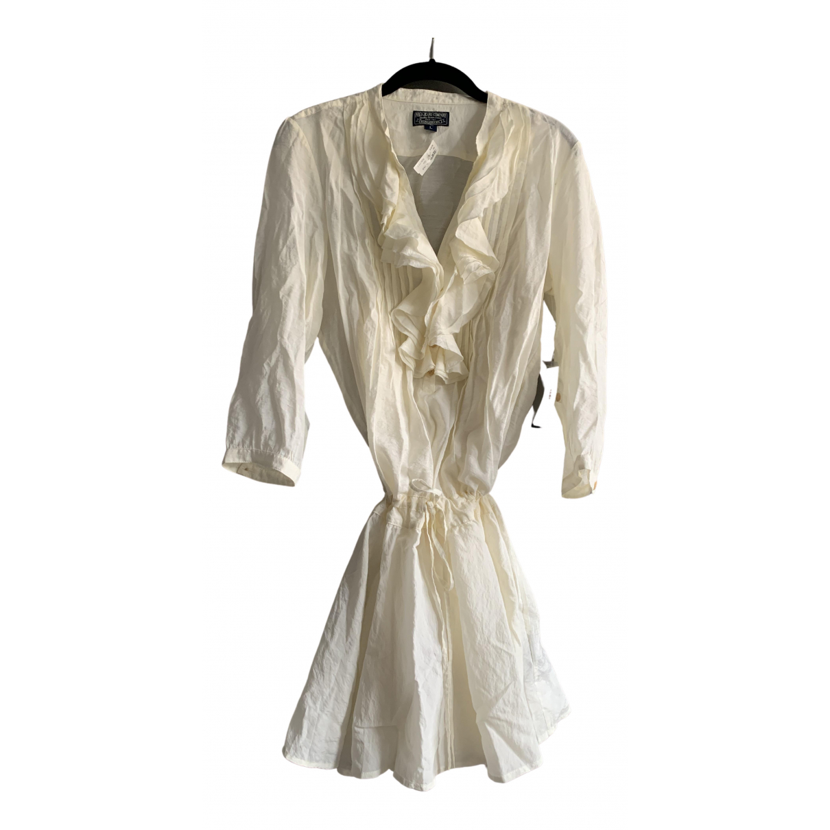 Polo Ralph Lauren N Ecru Cotton dress for Women L International