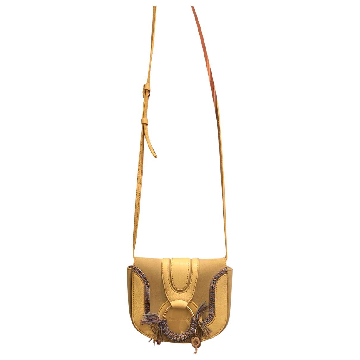 See By Chloe \N Handtasche in  Gelb Leder