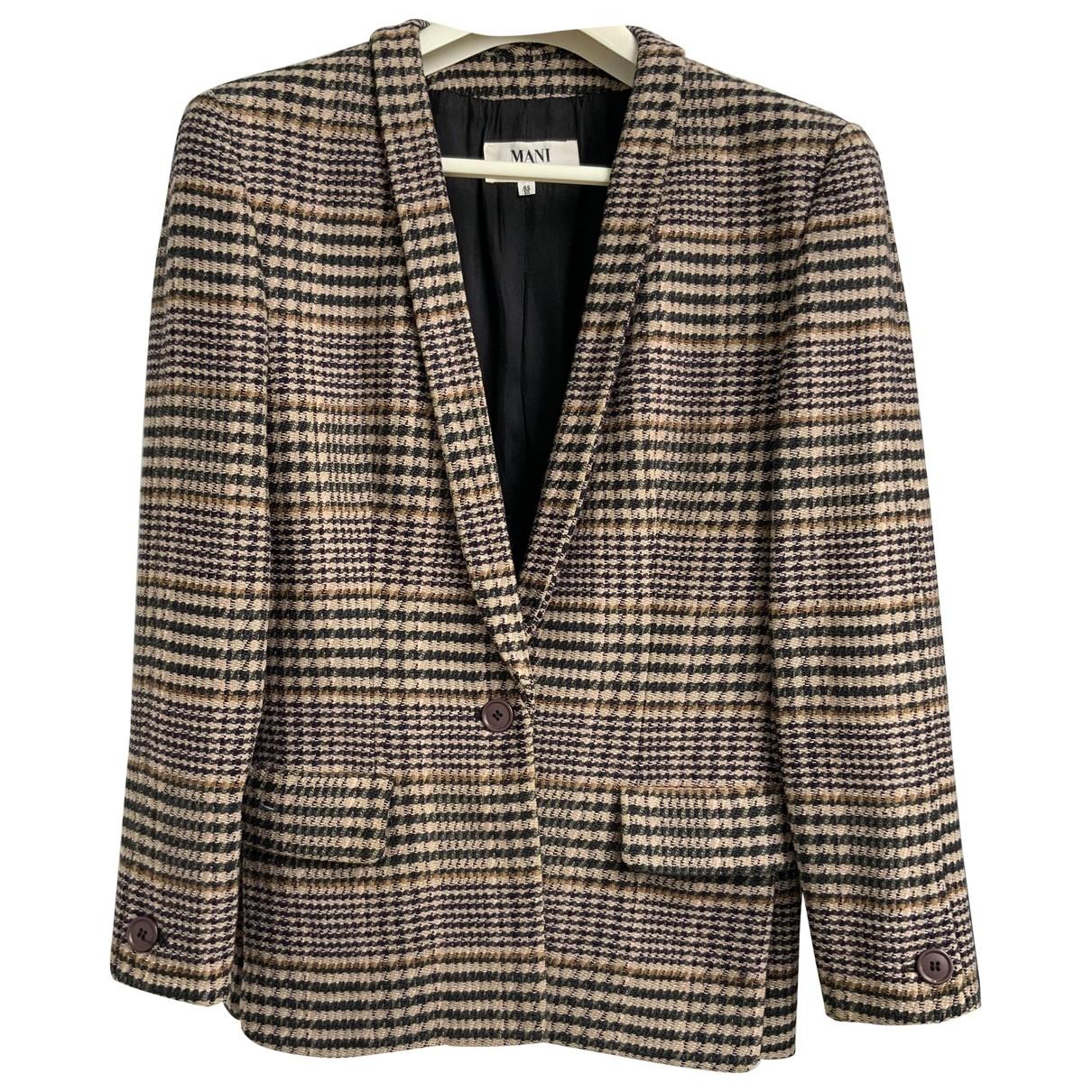 - Veste   pour femme en laine - multicolore