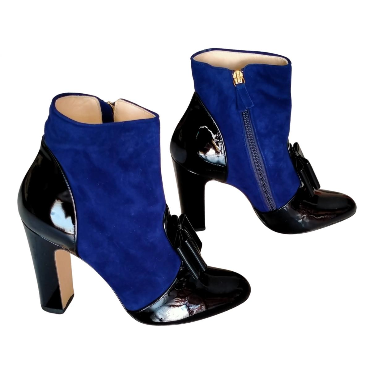 Bionda Castana \N Stiefeletten in  Blau Veloursleder