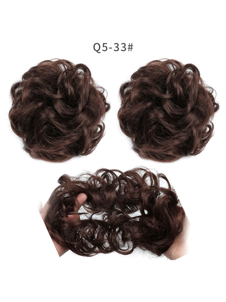 Milanoo Donut Bun Wig Tousled Rayon Donut Chignons
