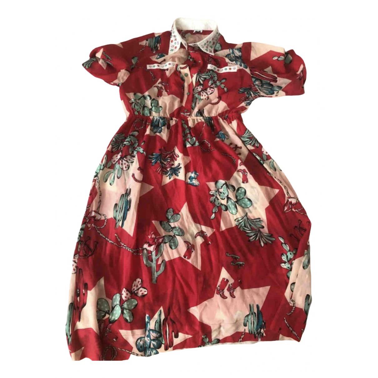 M Missoni \N Kleid in  Rot Seide