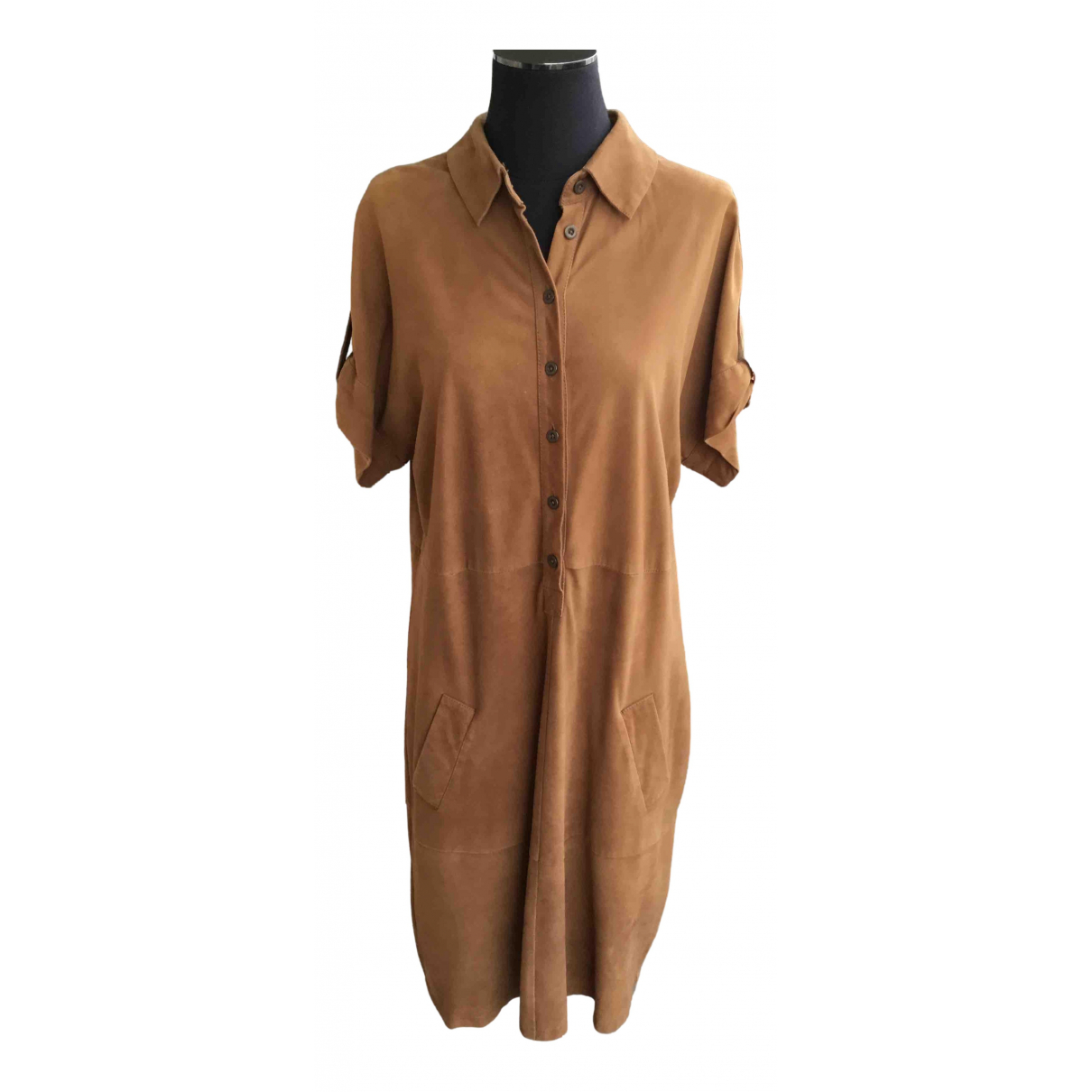 Zapa - Robe   pour femme en suede - marron