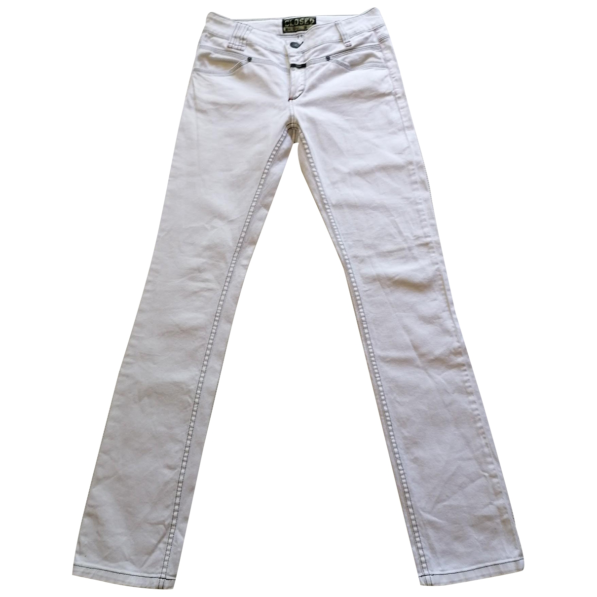Closed \N White Cotton - elasthane Jeans for Women 40 FR