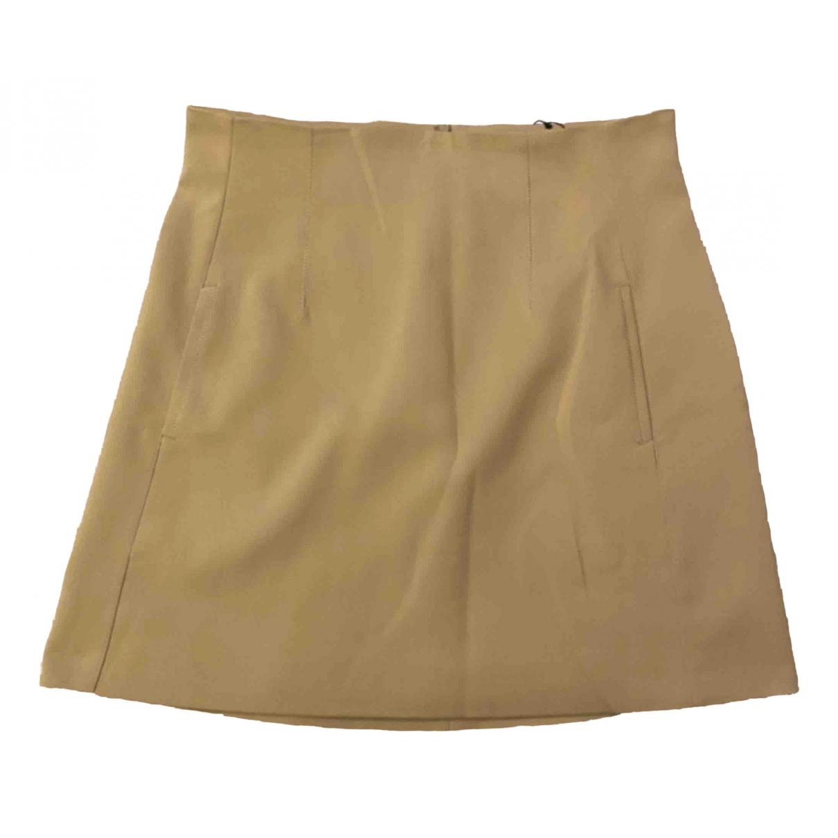 Zara - Jupe   pour femme en coton - camel