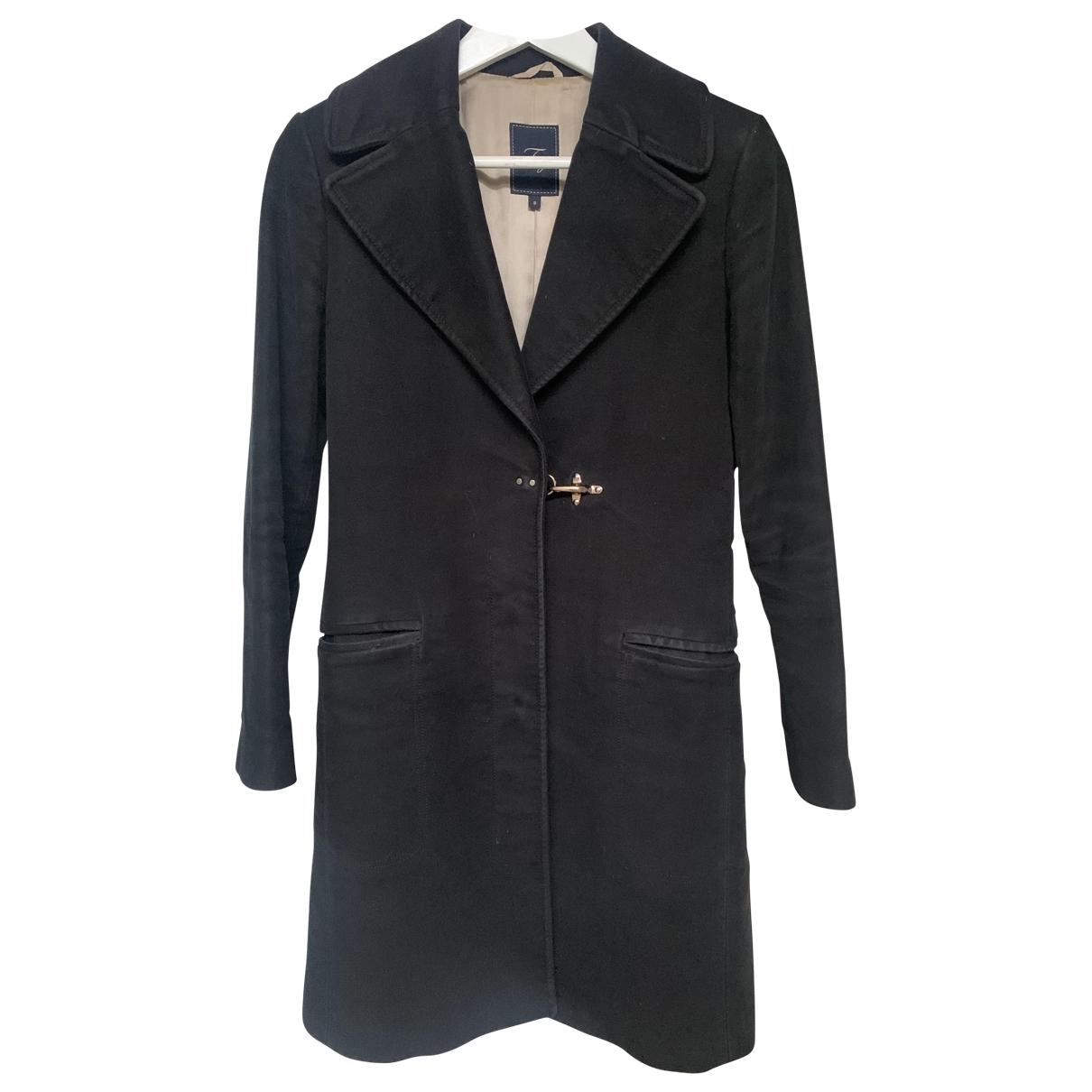 Fay - Manteau   pour femme en coton - noir