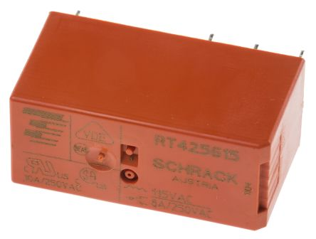 TE Connectivity , 115V ac Coil Non-Latching Relay DPDT, 8A Switching Current PCB Mount, 2 Pole