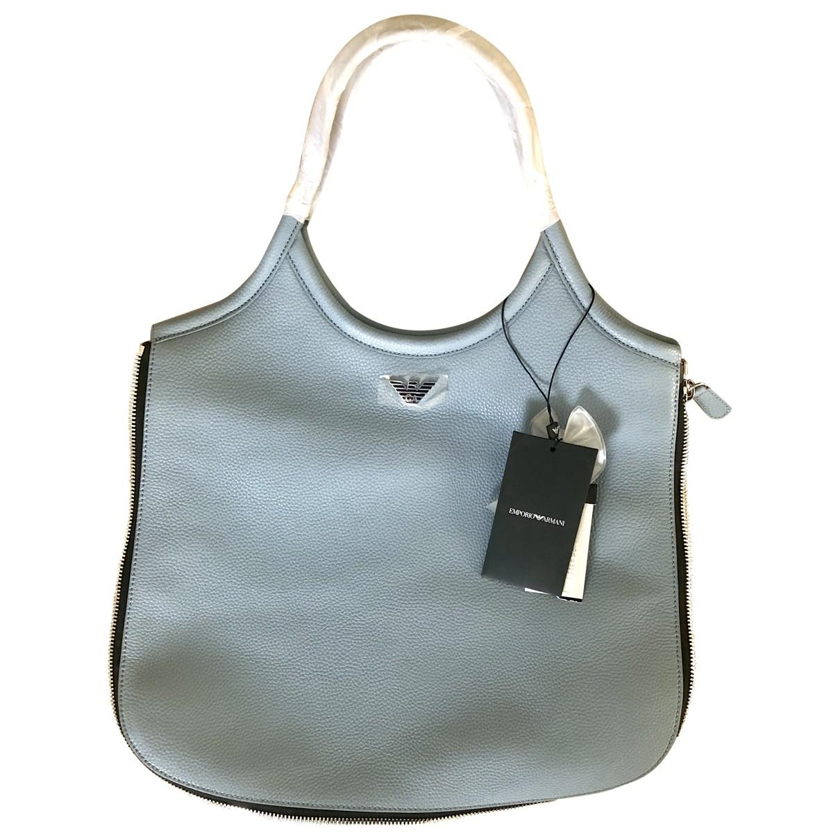 Emporio Armani \N Blue Leather handbag for Women \N