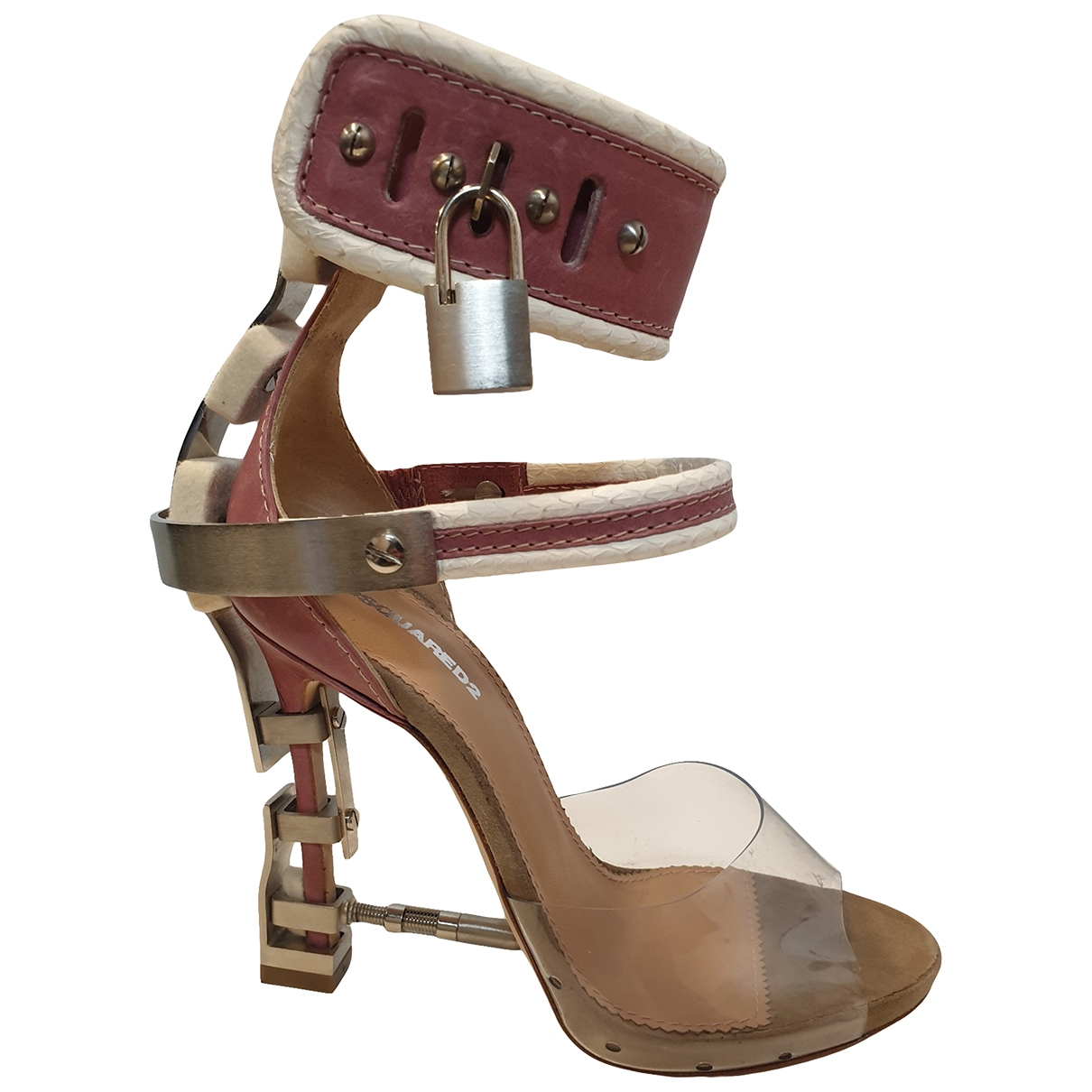 Dsquared2 \N Pink Leather Heels for Women 37 EU