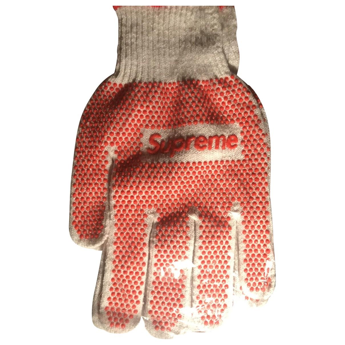 Supreme \N White Cotton Gloves for Men M International