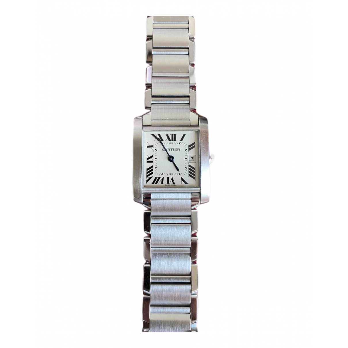 Cartier Tank Française Metallic Steel watch for Women \N