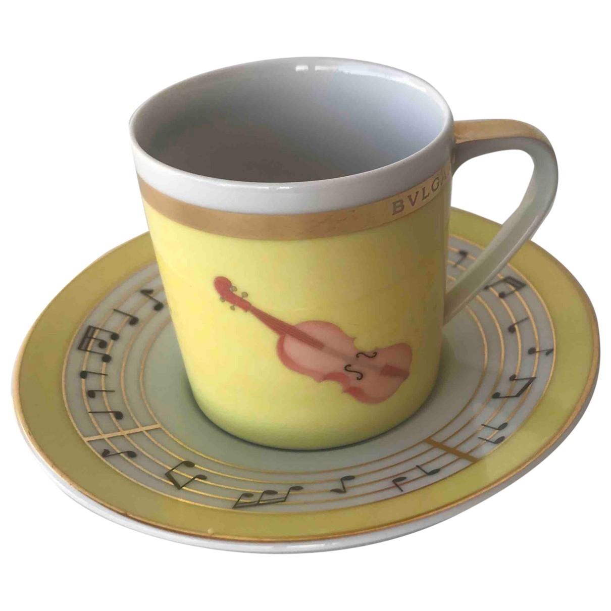 Bvlgari - Arts de la table   pour lifestyle en ceramique - jaune