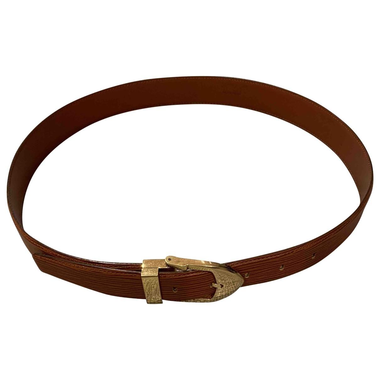 Louis Vuitton \N Brown Leather belt for Men 90 cm