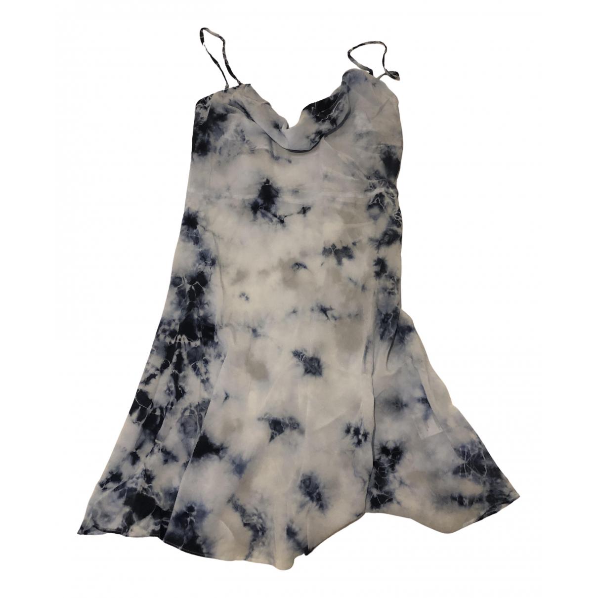 Réalisation N Blue Silk dress for Women S International