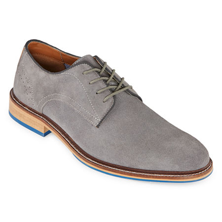 Stafford Mens Mison Oxford Shoes, 9 1/2 Medium, Gray