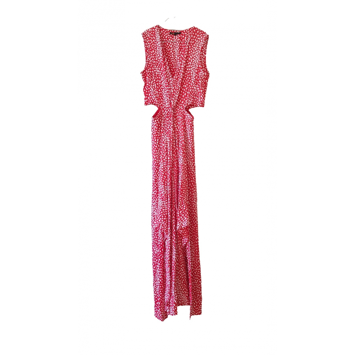Maje Spring Summer 2019 Kleid in  Rot Baumwolle