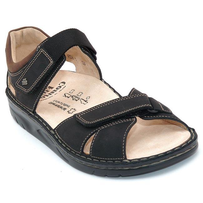 Finn Comfort Samara Black Nubuck Soft Footbed 47