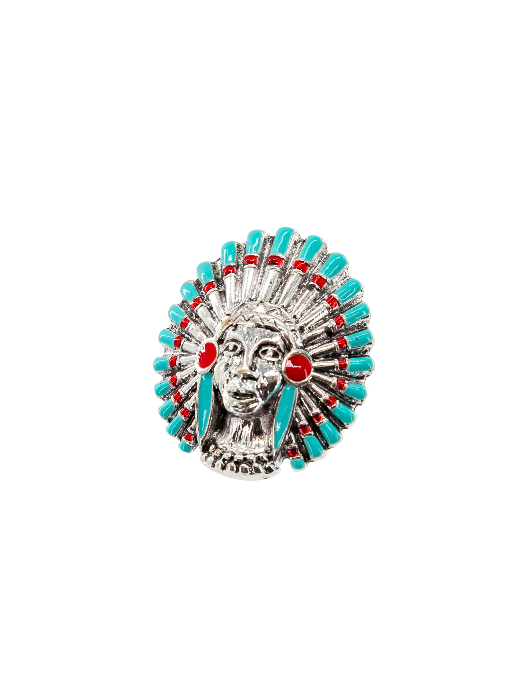 Kostuemzubehor Ring Indianer Farbe: tuerkis