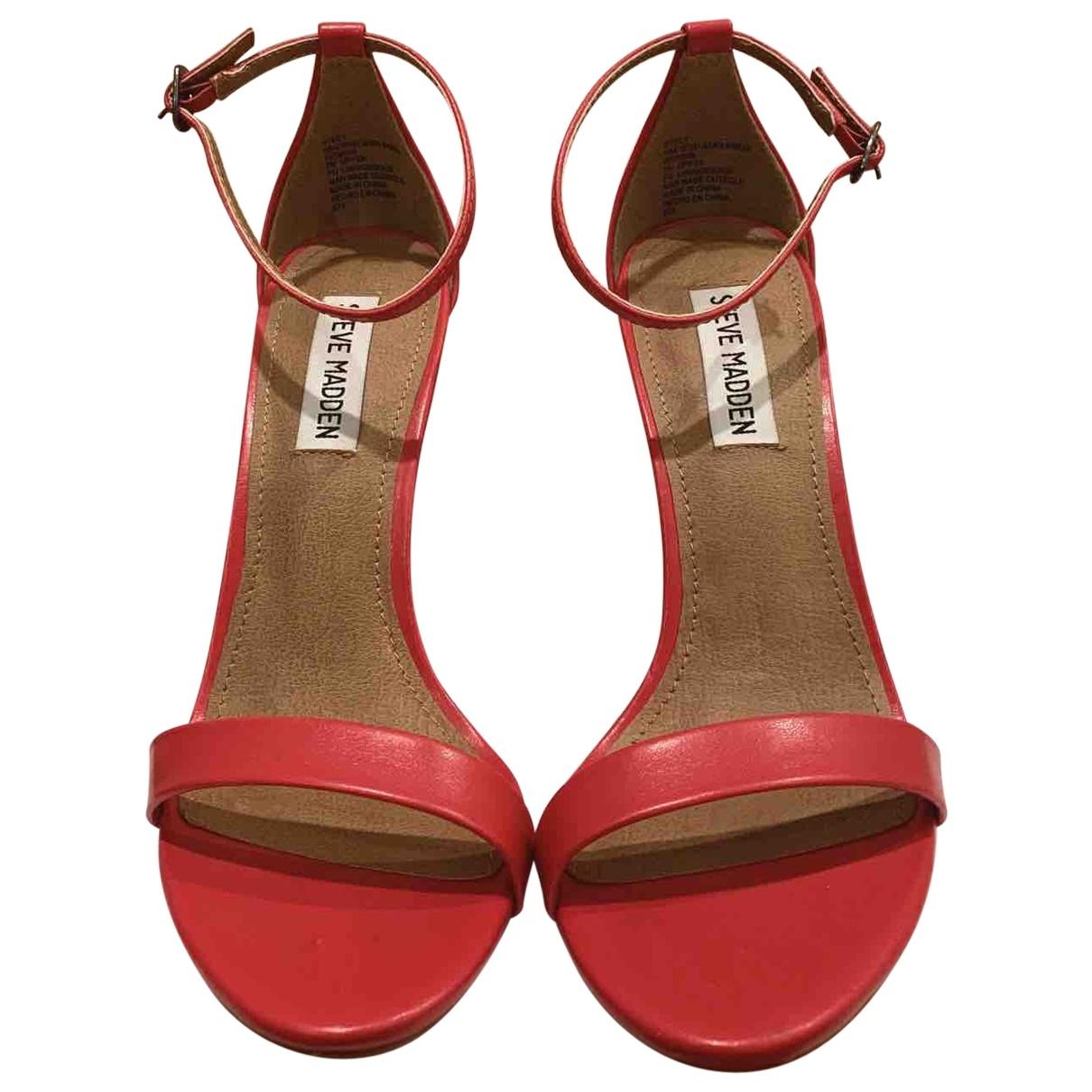 Steve Madden \N Red Leather Heels for Women 37.5 EU