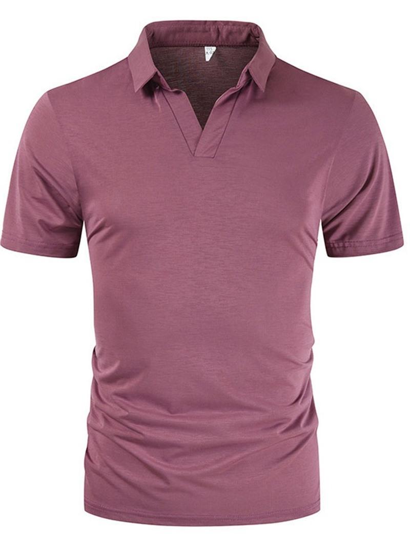 Ericdress Polo Neck Casual Plain Polo Shirt