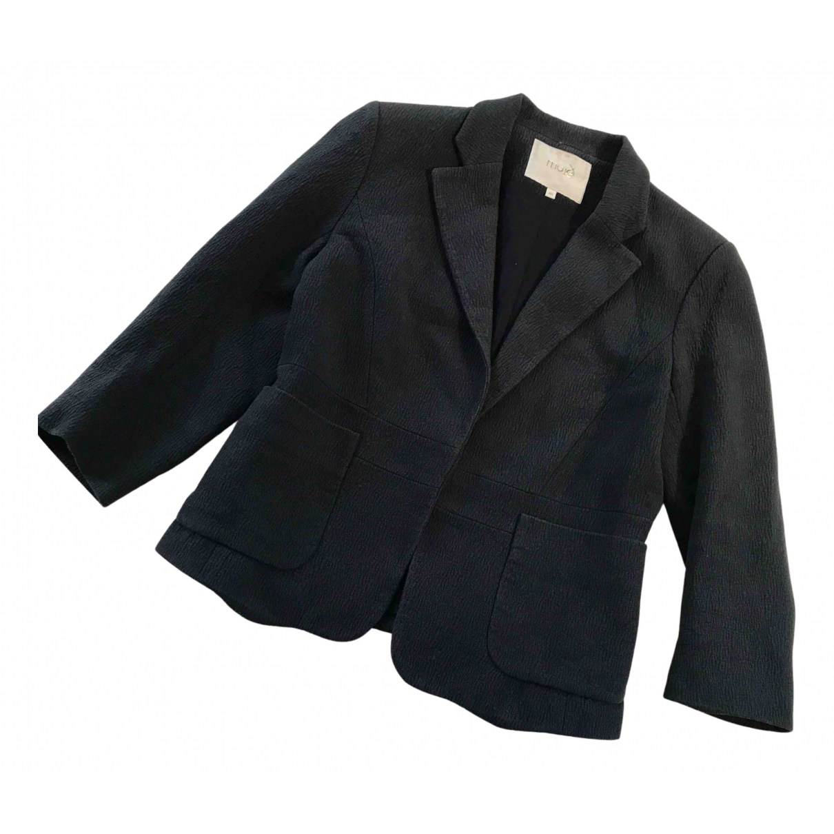 Maje N Anthracite Cotton jacket for Women 40 FR