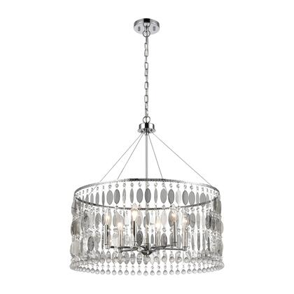 15382/6 Chamelon 6-Light Pendant in Polished Chrome with Perforated Stainless and Clear