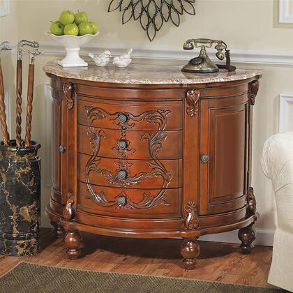 AE56552 Carbonne Crescent Console-Pink