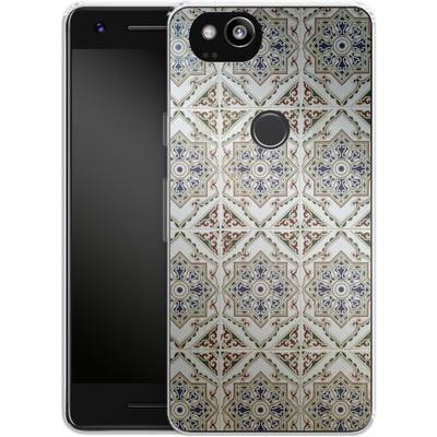 Google Pixel 2 Silikon Handyhuelle - White Tiles von Omid Scheybani