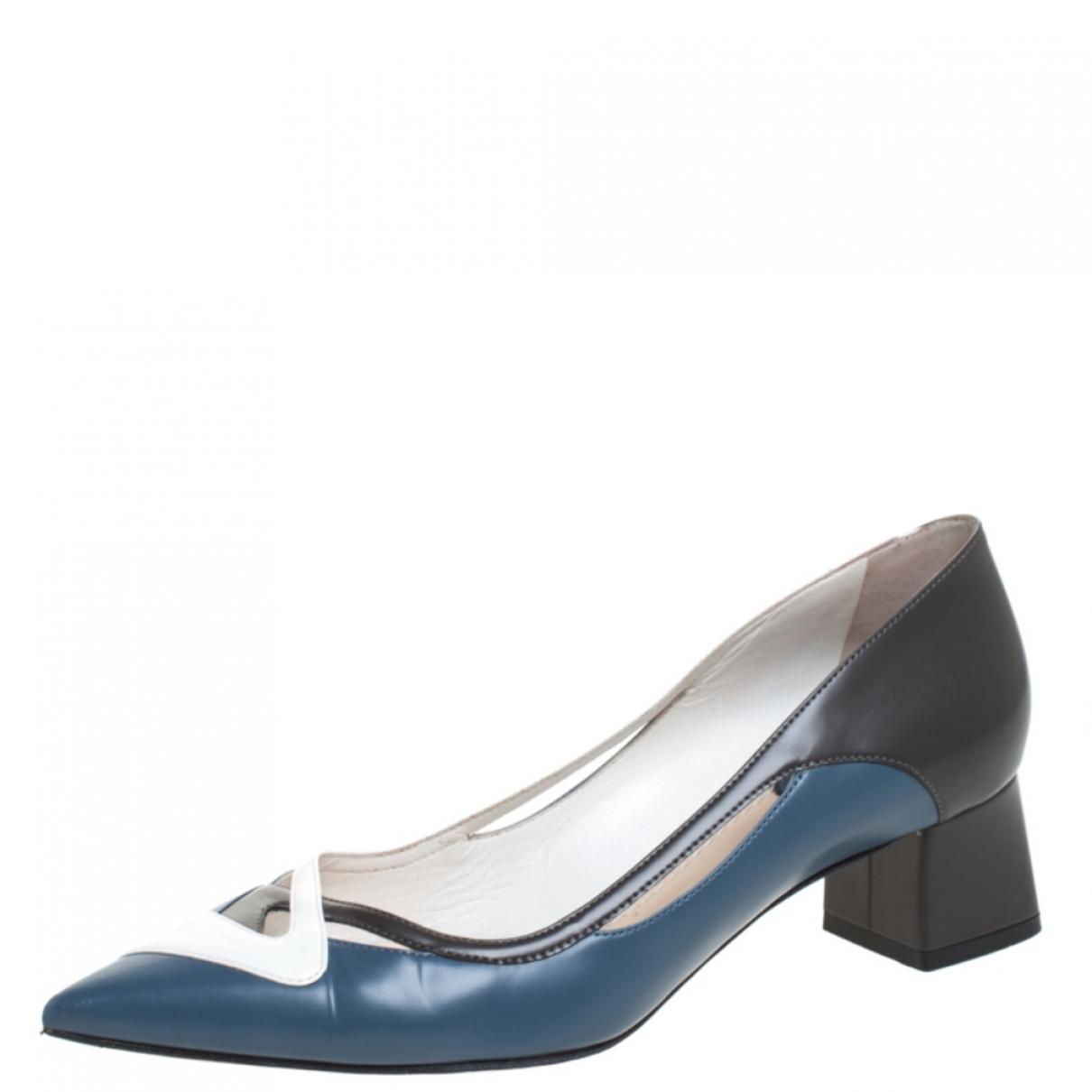 Dior - Escarpins   pour femme en cuir - multicolore