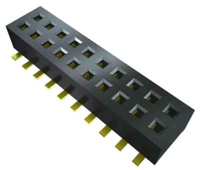 Samtec , CLP, CLP-108 1.27mm Pitch 8 Way 2 Row Vertical PCB Socket, Surface Mount, Press-In Termination (1200)