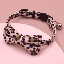 1 Stueck Katze Halsband mit Leopard Muster