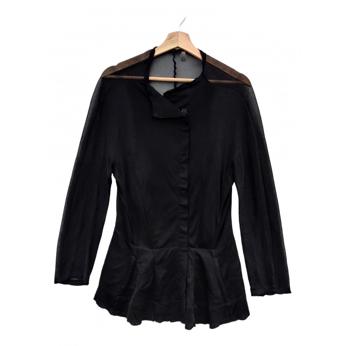 Yohji Yamamoto - Veste   pour femme en soie - noir