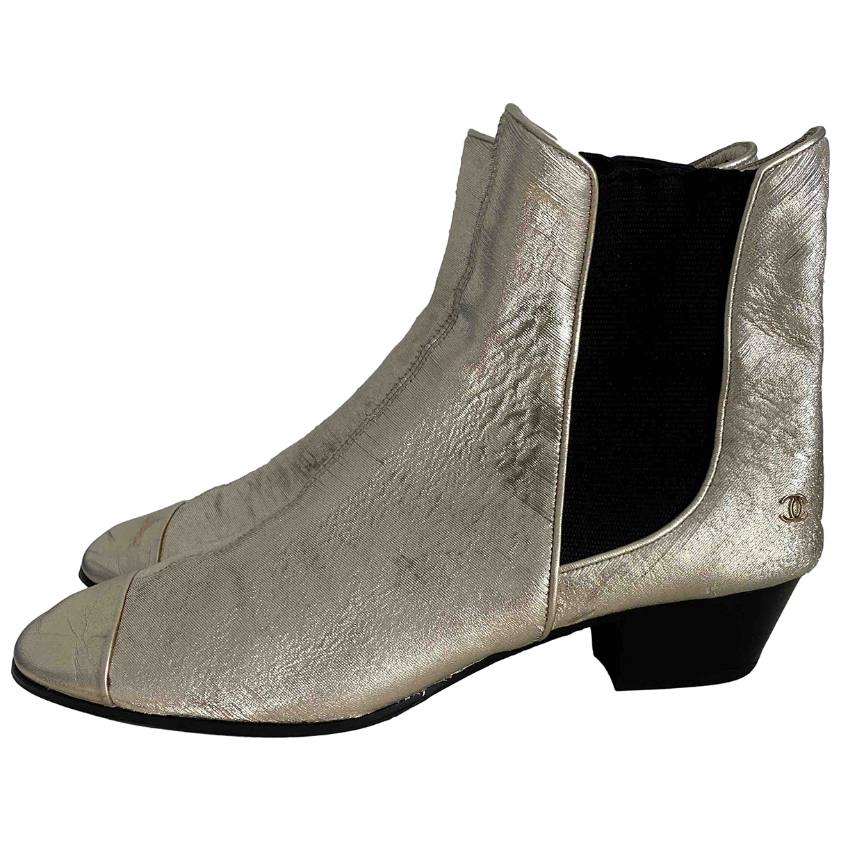 Chanel \N Metallic Leather Ankle boots for Women 37 EU