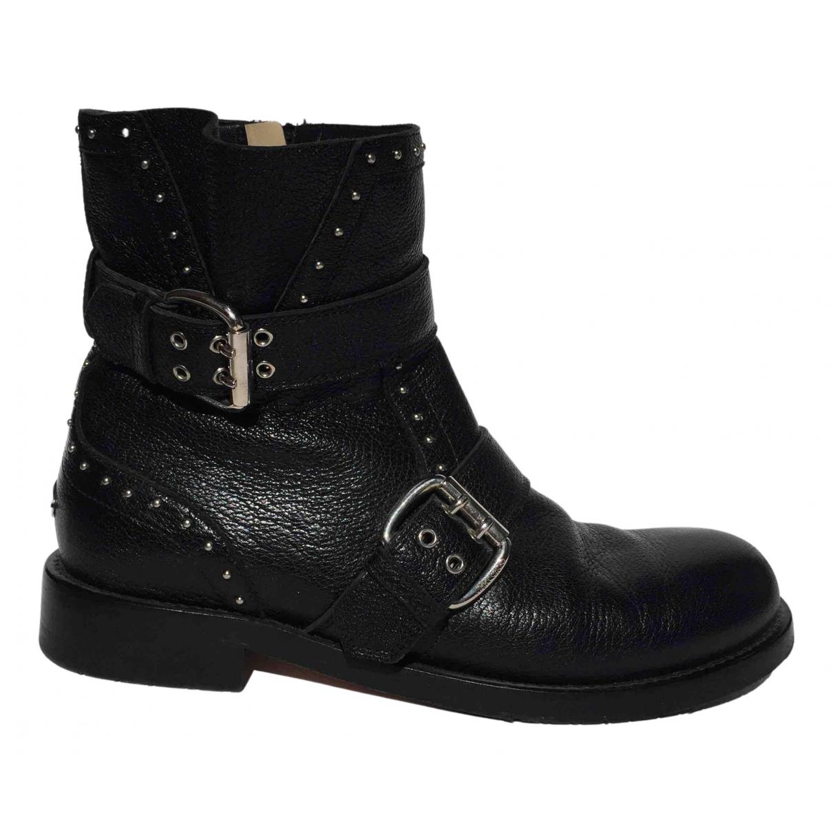 Jimmy Choo - Boots Youth pour femme en cuir - noir
