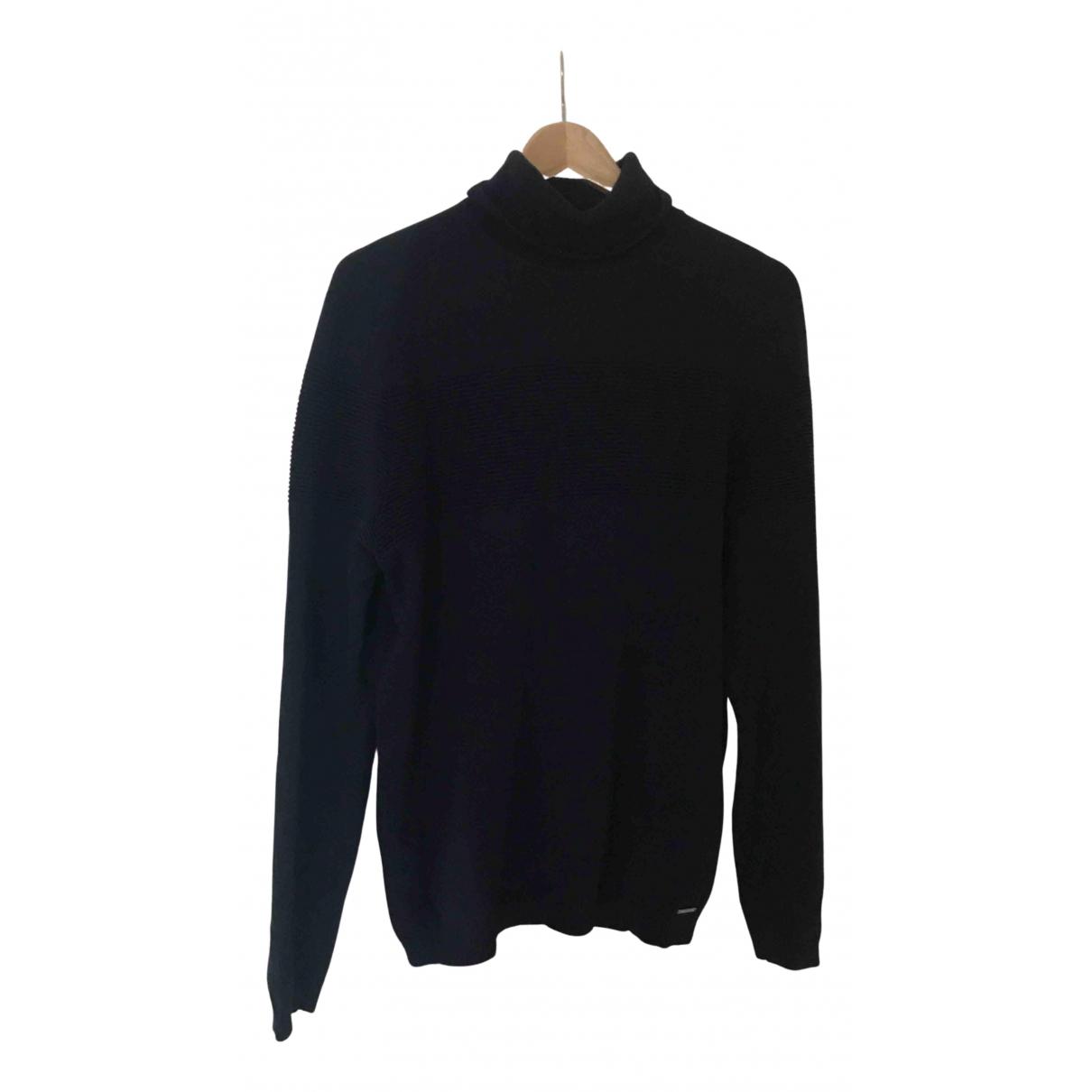 Hugo Boss \N Pullover.Westen.Sweatshirts  in  Blau Baumwolle