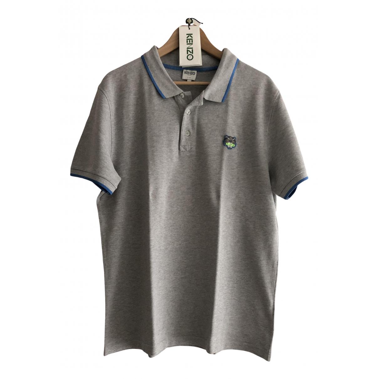 Kenzo - Polos   pour homme en coton - gris