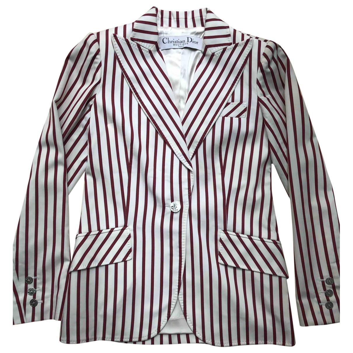 Dior - Veste   pour femme en coton - blanc