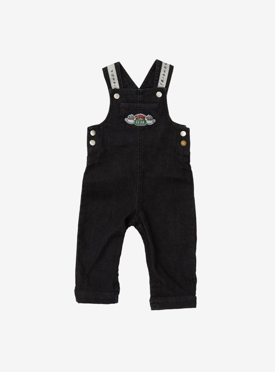 Friends Central Perk Logo Black Denim Infant Overall - BoxLunch Exclusive