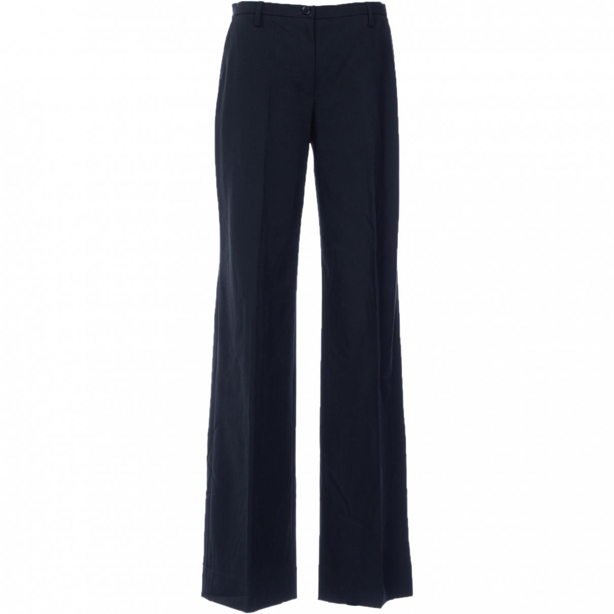 Dolce & Gabbana - Pantalon   pour femme en laine - noir