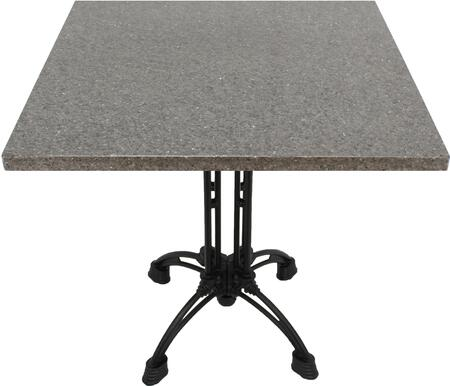 Q405 30X30-CA18-24D 30x30 Storm Gray Quartz Tabletop with 17