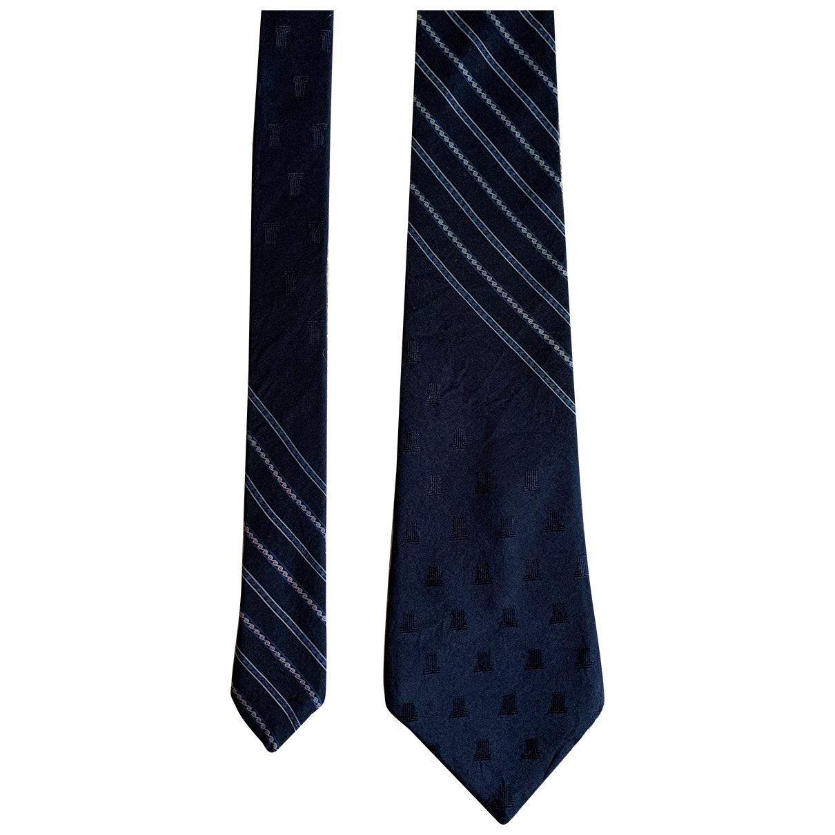 Lanvin \N Krawatten in  Marine Seide