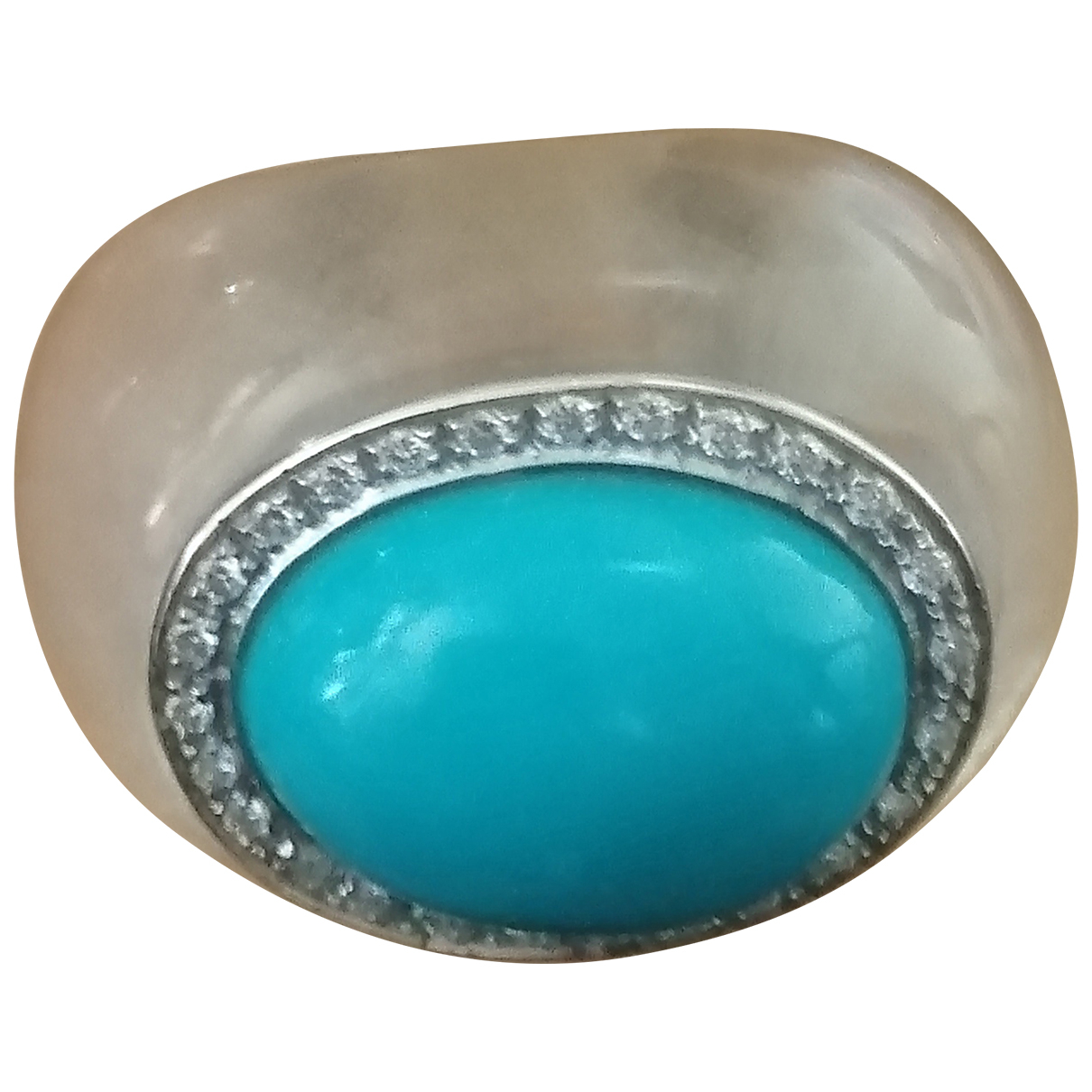 Non Signé / Unsigned \N Turquoise Glass ring for Women 54 EU