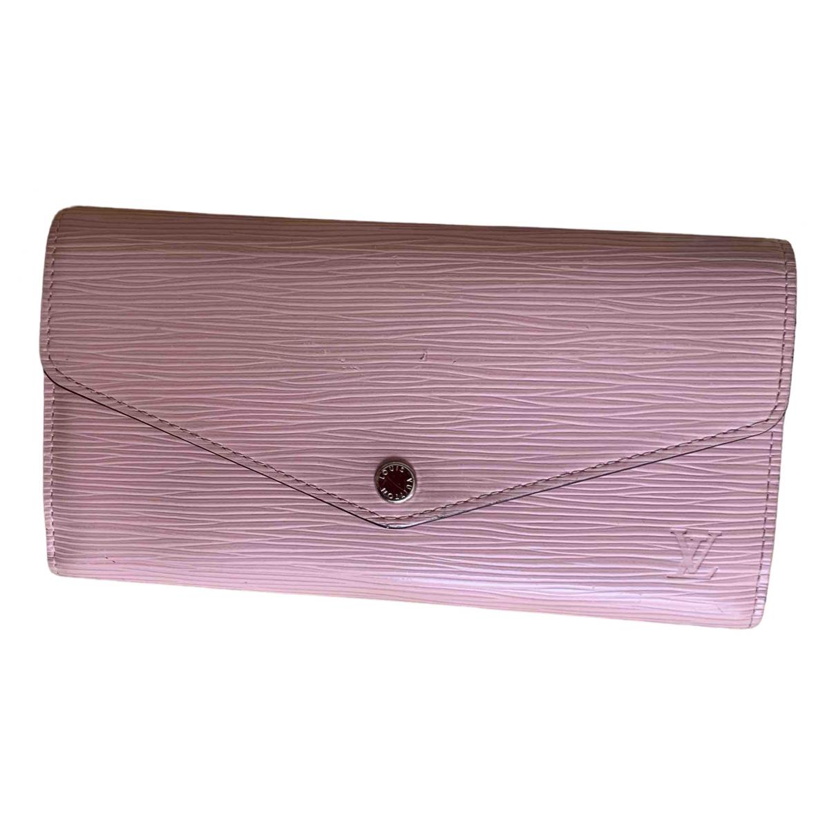 Louis Vuitton Sarah Pink Leather wallet for Women \N